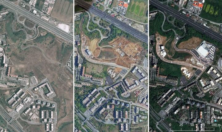 Mappatura sperimentale delle terre su una serie di Comuni