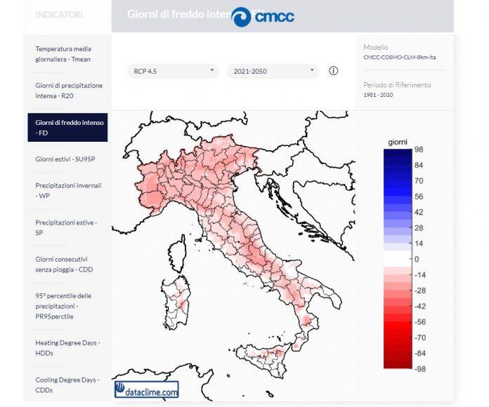 modelli cambiamenti clima Italia