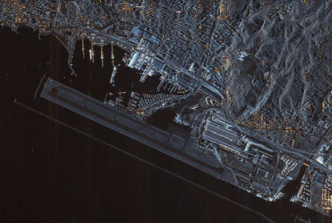 cosmo-skymed aeroporto Genova