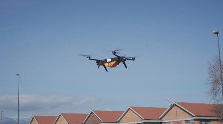 Leonardo: primo test drone elettrico in città per il trasporto di merci pesanti