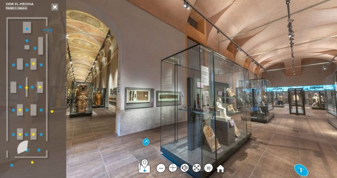 virtual tour museo egizio torino