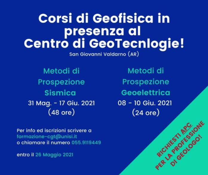 Corsi di geofisica al CGT dell'Università di Siena