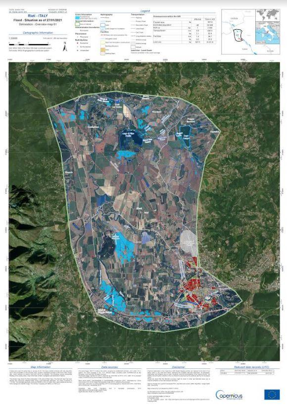 e-GEOS mappe satellitari per Regione Lazio