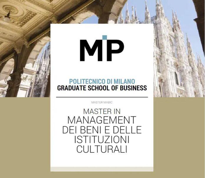 master management beni culturali polimi