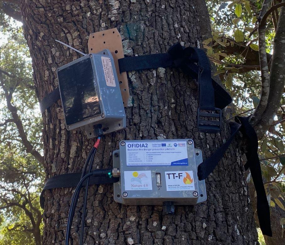 sensori monitoraggio incendi OFIDIA2