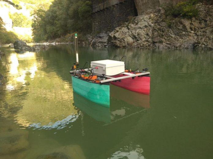 drone acquatico cnr per rilievi