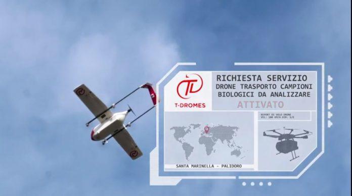 droni per la sanità trasporto